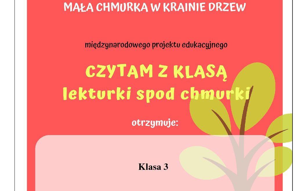 """""""CZYTAM Z KLASĄ- LEKTURKI SPOD CHMURKI"""""""